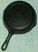 "Vintage Unbranded WAGNER  Cast Iron 8 1/4 "" Frying Pan #5 Skillet"