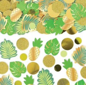 Tropical Confetti Summer Birthday Party Table Confetti Pack Pineapple and Leaves