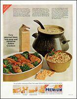 1965 Chicken divan recipe Premium saltine crackers vintage photo Print Ad adL68