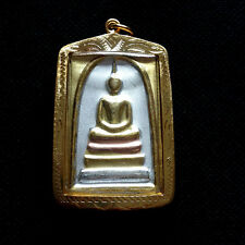 Thai Amulet Buddha Phra Somdej Talisman Three Colors Pendant Protect Lucky DBZ