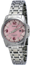 Casio LTP1314D-5AV Women's Enticer Stainless Steel Pink Dial Date Analog Watch