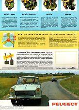 ENCART-PUB # PEUGEOT 404-403- # 1962 # PUBLICITE ADVERTISING