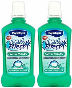 Wisdom Fresh Effect Freshmint Antibacterial Mouthwash 500ml x 2