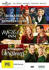 ROMANCE AT REINDEER LODGE + MISTLETOE INN + WITH LOVE CHRISTMAS R1 DVD Hallmark