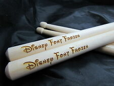 """""""Disney Style Font Drumsticks - Personalisation Available. Drummer Drum"""""""