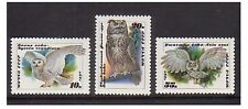 Russia - SG 6117/19 x 10 - u/m - 1990 - Owls