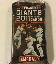 Unopen Pack 2011 San Francisco Giants Trading  Cards SGA GIveaway