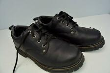 SKECHERS Rugged Lace Up Oxford Hiking Shoes Boots Black LEATHER Uppers Mens 7.5M