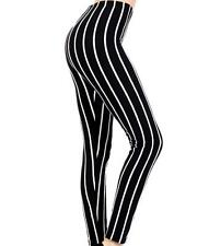 Jack Skellington Black & White Pinstripe Psychobilly Leggings Pants Gothic Punk