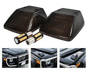 Front Smoke Turn Signal Lens Amber LED Bulb Mercedes G Class SUV 500 550 G63 G55