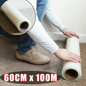Carpet Protection Protector Floor Stairs Film Self Adhesive Roll 600MM X 100M