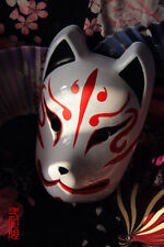 Japan Anime Full Face Hand-Painted Japanese Fox Mask Kitsune Cosplay Masquerade