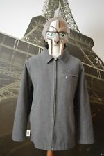 Lacoste Men's Grey Woolen Jacket / Over Coat Size 54/5 (X-LARGE) Devanlay