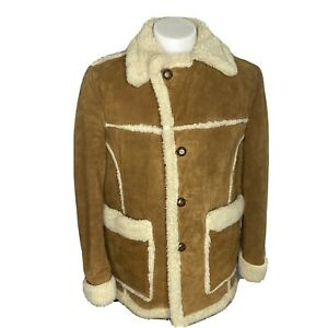 TRAILMASTER Vintage Sherpa Lined Corduroy Jacket Mens *Large Ranch Cowboy