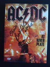 Brian Johnson AC/DC Autographed Signed DVD Booklet Cover Beckett Certified
