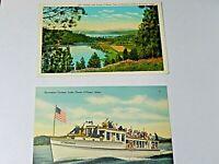 Vintage Coeur D Alene Idaho  Postcards Lot of two 1930's  3 x 5 1/4