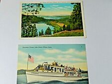 Vintage Coeur D Alene Idaho  Postcards Lot of two 1930's  3 x 5 1/4