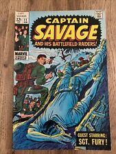 CAPTAIN SAVAGE & HIS BATTLEFIELD RAIDERS #11 Marvel Comics Feb 1969 See Pics
