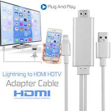Apple Lightning Verbinden mit HDMI TV AV-Kabeladapter für iPhone 8 7 6 iPad Mini