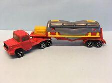 Diecast Majorette Magirus Truck & Trailer Red Wear & Tear Good Condition