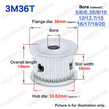 3M36T Timing Pulley Idler without Bearing 5-20mm Bore 3mm Pitch for 10/15mm Belt