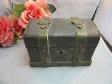 Vtg Treasure chest box Au Bapteme De Mon bebe F. Nollet Confiseur Paris, France