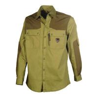 Mens Cotton Shirt Inserts Long Sleeve Soft Outwear Hunting Fishing Shooting