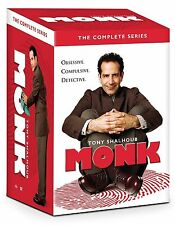 Monk:The Complete Series  (DVD, 2016, 32-Disc Set) Seasons 1-8 Brand NEW