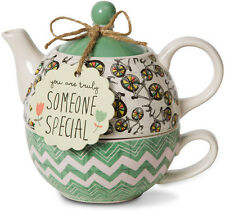 Pavilion Gift Tea for One Set Stacked Teapot & Cup SOMEONE SPECIAL Amylee Weeks