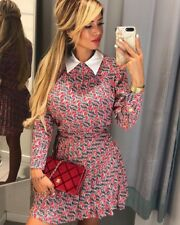 Zara Zebra Printed Pleated Skort Size MEDIUM BNWT