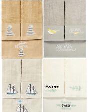 Luxury 3 Piece Embroidered Logo Shower Bathroom Bath Hand Washcloth Towel Set