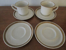 Set of 4 Japan COUNTRY MANOR J1000 saucer plate and 2 Baroque Hearthside cups