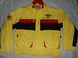 PENNZOIL RACING EMBROIDERED JACKET COAT HOODIE WARM SIZE XL EXCELLENT.!