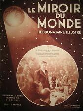 PIERRE LAVAL MAROC FRANCAIS ET ESPAGNOL JEANNE D'ARC ROUEN MIROIR DU MONDE 1931