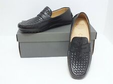 Ecco Moc Hybrid B Size 41/EU)/7-7.5(US) Men's Leather Driving Moccasins Black