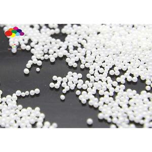 WHITE 100000 Pcs Glass small Beads No Hole 0.6mm-0.8mm Nail Art Caviar