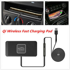 Universal Car Qi Wireless Fast Charging Pad Dashboard Holder Stand Non-slip Mat