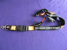 New JBL Black Lanyard - Orange Logo With White Text (Pro Sound Comes Home)