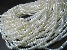 "Natural Fresh Water Pearl Beads Size 3mm 16"" inch Strand Birthstone Beads"