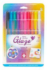Sakura 38370 Glaze Embossing Ink Set of 10 Pens Sketch Drawing Art Craft NEW