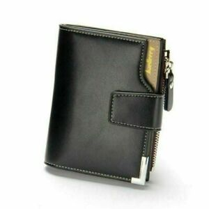 Casual Men Leather Wallet ID Credit Card Holder Bifold Pocket Zip Coin Bag Purse