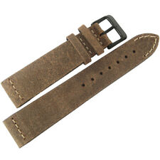 20mm ColaReb Italy Spoleto SHORT Swamp Brown Leather PVD BUCKLE Watch Band Strap