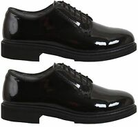 Oxford dress shoes uniform high gloss black Rothco 5055 various sizes Reg & Wide