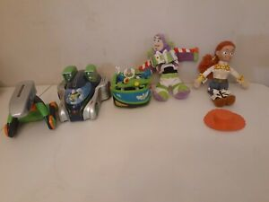 Disney Pixar Toy Story Buzz Lightyear Plush, Beanie & Spaceship Vehicles Lot