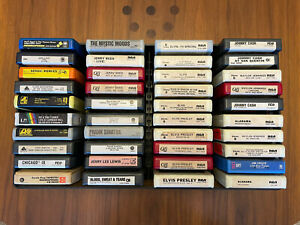 8-Track Stereo Tapes - 40  Lot Variety Tested Quads - Elvis, Reed, Cash, Waylon