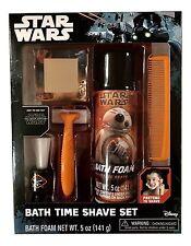1x Star Wars Childs Bath Time 5 Piece Play Shave Set Pretend Gift