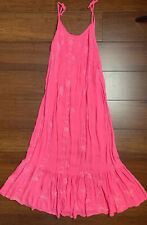 CoolChangeKids Girls Size 8 Boutique Dress Embroidered Pink Long