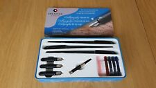 Sheaffer Deluxe Calligraphy set, three fountain pens
