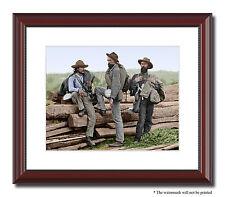 "Three Confederate Prisoners Gettysburg 11x14"" Framed Photo Color Civil War 01450"