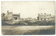 WW1 Shell Damaged Ruins RP PPC Unposted, Unknown Location